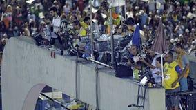 Fotografi alla parata dello stadio di carnevale di Sambodromo Fotografie Stock Libere da Diritti