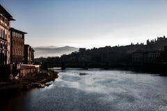 Fotografi av Florence från Ponte Vecchio royaltyfria foton
