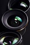 fotografi för 03 linser Arkivbilder