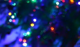 Fotografi för bakgrund för ljus för bokeh för Abstact natt blury defocused Royaltyfri Fotografi