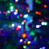 Fotografi för bakgrund för ljus för bokeh för defocus för Abstact natt blury Arkivbilder