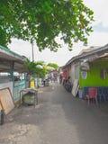 Fotografi för Balikpapan stadsgata, Borneo, Indonesien arkivbilder