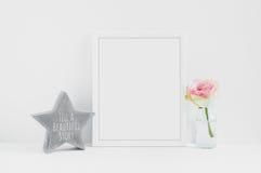 Fotografi för materiel för rammodell blom- utformat Arkivfoton