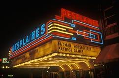 fotografi för neon för film för daghusstort festtält gammalt Royaltyfri Bild