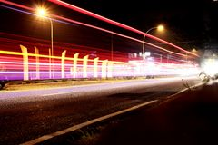 Fotografi för teknik för nigth för belysningeffekt arkivfoto