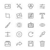 Fotografi gör symboler tunnare Royaltyfri Foto