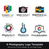 Fotografi Logo Template Design Vector Royaltyfri Fotografi