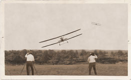 Fotografi, vecchia corsa degli aerei Atterraggio di Vinner Immagini Stock Libere da Diritti