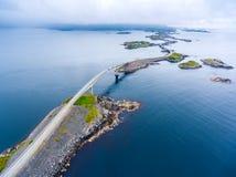 Fotografia aérea da estrada de Oceano Atlântico Fotografia de Stock Royalty Free