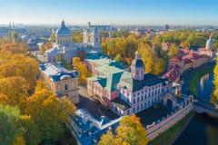 Fotografia a?rea de Alexander Nevsky Monastery St Petersburg, R?ssia imagem de stock royalty free