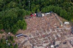 Fotografia aérea do evento Imagens de Stock Royalty Free