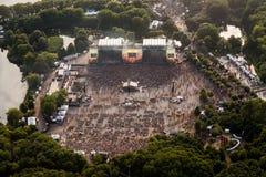 Fotografia aérea do evento Imagem de Stock Royalty Free