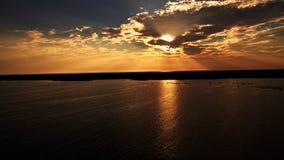 Fotografia aérea do lago pelo zangão fotografia de stock royalty free