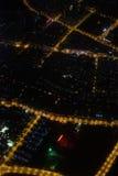 Fotografia aérea na noite Fotos de Stock Royalty Free