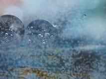 Fotografia abstrata Círculos Multi-colored Gota do petróleo imagens de stock