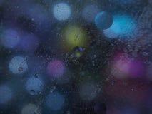 Fotografia abstrata Círculos Multi-colored Gota do petróleo fotos de stock royalty free