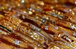 Fotografia abstrata do fundo dos braceletes Imagens de Stock