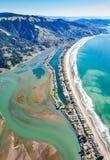 Fotografia acima da praia de Stinson que enfrenta o sul imagem de stock