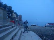 Fotografia ad Assi Ghaat, Varanasi immagini stock