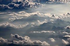 Fotografia aerea con le nubi Immagini Stock