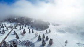 Fotografia aerea del paese delle meraviglie di inverno Immagini Stock