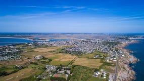 Fotografia aerea del punto di Le Croisic Fotografie Stock Libere da Diritti