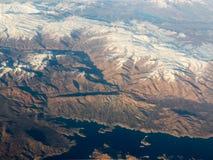 Fotografia aerea dell'aeroplano Fotografia Stock
