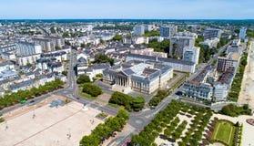 Fotografia aerea della casa di tribunale cittadino Angers Immagine Stock Libera da Diritti