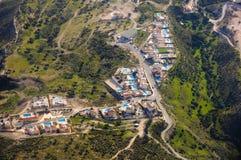 Fotografia aerea della Cipro Fotografia Stock