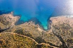 Fotografia aerea della Cipro Fotografie Stock
