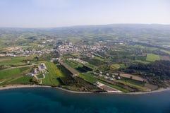 Fotografia aerea della Cipro Immagine Stock