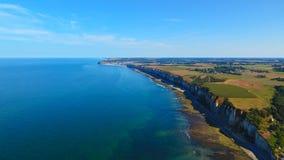 Fotografia aerea della costa del albaster a Fecamp Immagine Stock Libera da Diritti