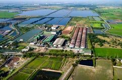 Fotografia aerea di agricoltura e di agricoltura Fotografia Stock Libera da Diritti