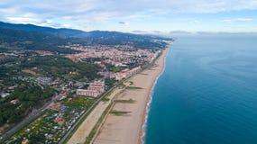 Fotografia aerea di Canet de marzo, Spagna immagine stock libera da diritti