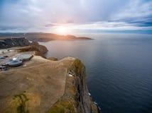 Fotografia aerea di Nordkapp del capo del nord, Fotografia Stock Libera da Diritti