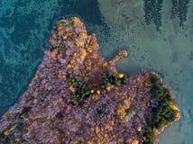 Fotografia aerea islandese catturata in fuco Immagini Stock
