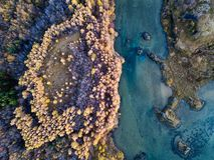 Fotografia aerea islandese catturata in fuco Immagine Stock Libera da Diritti