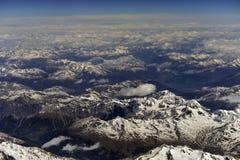 Fotografia aerea sopra le alpi Fotografia Stock