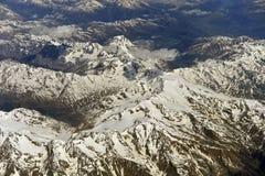 Fotografia aerea sopra le alpi Immagine Stock