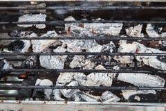 Fotografia alta di fine della griglia del carbone Immagine Stock