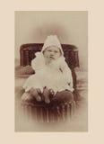 Fotografia antiga do bebé fotografia de stock