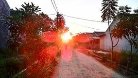 Fotografia arancio della città del fiume fotografia stock libera da diritti