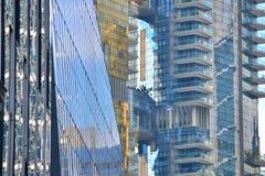 Fotografia astratta di architettura moderna, posizione Singapore fotografia stock libera da diritti