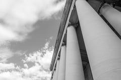 Fotografia in bianco e nero delle colonne del National Gallery di arte Fotografia Stock Libera da Diritti