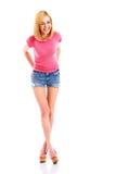 Fotografia bonita do estúdio da mulher do modelo de forma Imagens de Stock Royalty Free