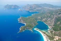 Oludeniz od powietrza, Fethiye, Turcja Zdjęcia Royalty Free
