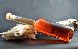 Ajerkoniak butelka Zdjęcie Stock