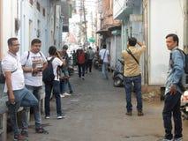 Fotografia cândido Photowalk Udaipur fotos de stock