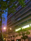 Fotografia clara da noite na rua de macau Foto de Stock Royalty Free