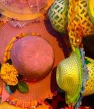 Fotografia colorida do fundo dos chapéus Imagem de Stock